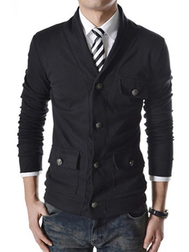 Lapel Single-Breasted Long Sleeve Coat