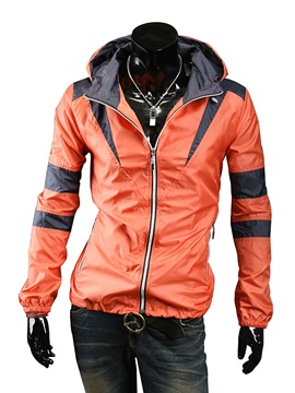 Lapel Zip-Front  Men's Outdoor Jacket