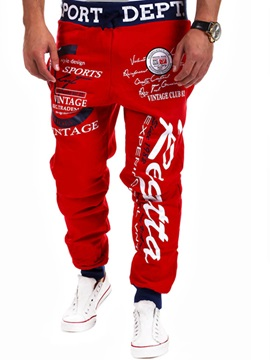 Loose-fit Letters And Icons Men's Sports Pant