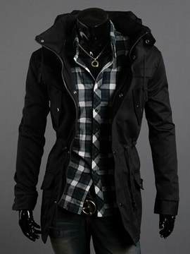 Casual Slim Fit Zipper Men Coat