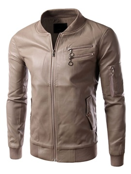 Leather Look Motorcycle Rider Men's Jacket
