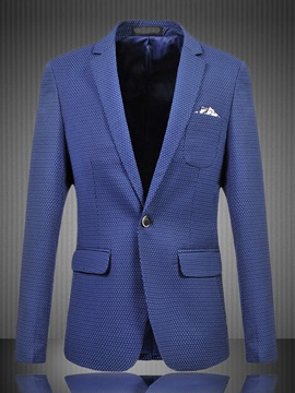 Solid Color Small Round Dots Men's Blazer