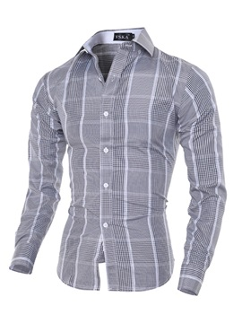 Men's Soid Color Lapel Single Breasted Shirts