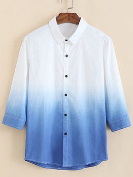 Gradient Color Regular Fit Men's Casual Shirt