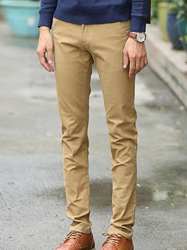 Straight Slim Fit Men's Casual Pants