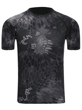 Floral Printed Short Sleeve Men's Regular Fit T-Shirt