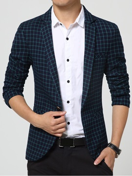 Plaid Men's Casual Slim Fit Blazer