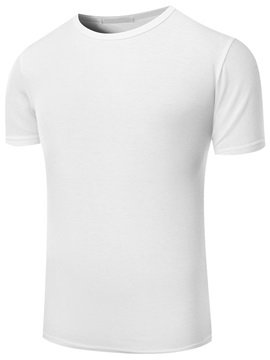 Round Neck Solid Color Men's Casual T-Shirt