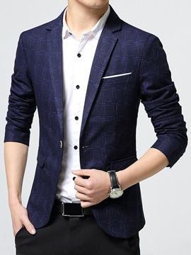 Plaid Classic Vogue Slim Fit Men's Blazer