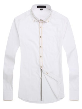 Slim Fit Vogue Print Men's Dress Shirt