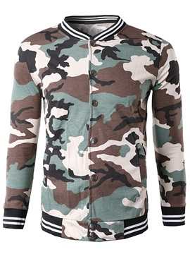 Stand Collar Camouflage Men's Casual Jacket