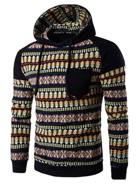 Chest Pocket Men's Causal Hoodie