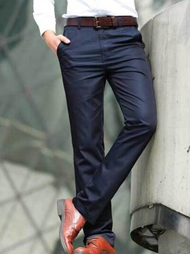 Zipper Side Pocket Men's Mid-Waist Casual Pants