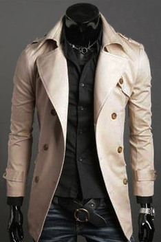 New Lapel Double-Breasted Long Sleeve Overcoat