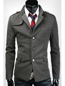 Lapel Single-Breasted Long Sleeve Overcoat