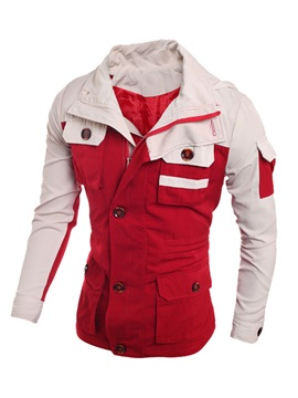Men's Color Block Zipper Up Jackets