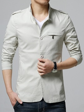 Stand Collar Single Breasted Men's Jacket