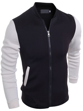 Two-tone Men's Stand Collar Jacket
