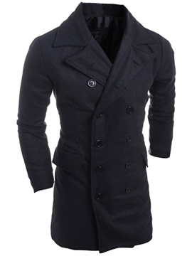 Double-breasted Men's Trench Coat