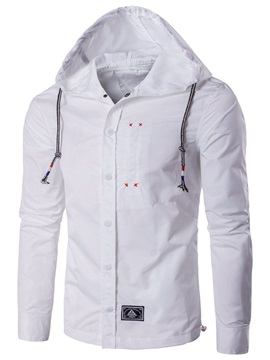 Hooded Single-Breasted Men's Casual Jacket
