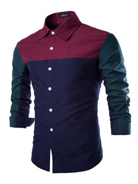 Color Block Button Front Closure Shirt