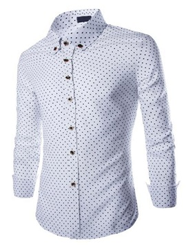 Single-Breasted Mini Five-Pointed Stars Design Men's Shirt