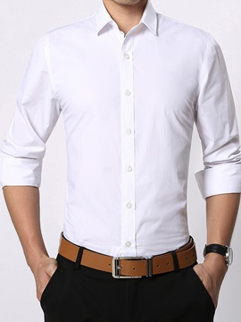 Slim Fit Plain Multicolor Men's Casual Shirt