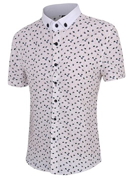 Floral Printed Vogue Men's Short Sleeve Shirt