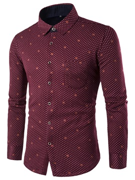 Vogue Print Chest Pocket Men's Causal Shirt