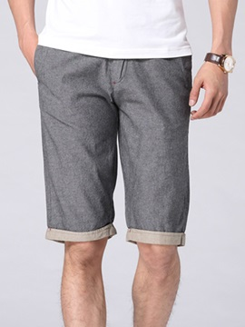 Straight Pockets Men's Knee Length Shorts