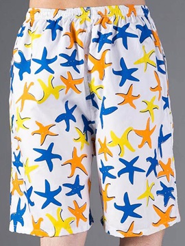 Colorful Starfish Printed Loose Fit Men's Shorts