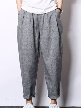 Plain Relaxed Fit Men's Ankle Length Casual Pants