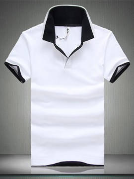 Solid Color Men's Jersey Polo