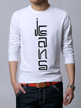 Symbol Printed Crew Neck Men's Tee