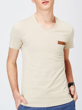 Relaxed Fit Heart-Shaped Neck Men's Tee