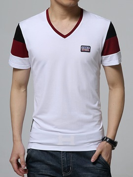 Color Block Men's V-Neck Tee
