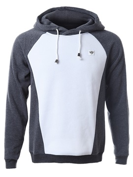 Patchwork Casual Men's Cotton Blends Hoodie