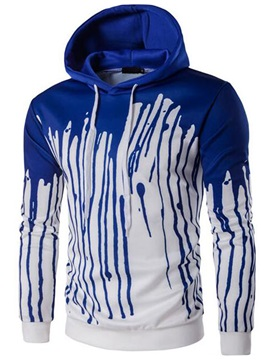 Paint Splatters Cotton Blends Men's Causal Hoodie