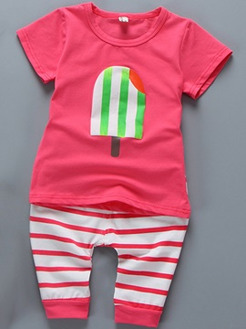 Stripe Print Pants Baby's Outfit