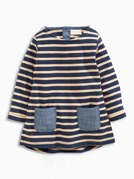 Casual Stripe Pocket Baby's T-Shirt