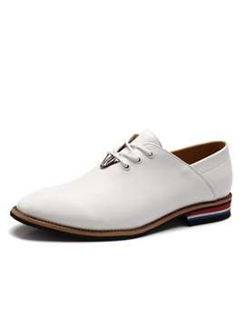 Elegant Pointed Toe Lace-Up Men's Brogues