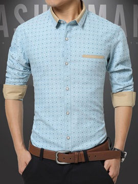 Dots Printed Regular Fit Men's Shirt