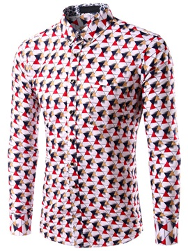 Multi-Color Triangle Men's Casual Shirt