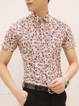Slim Fit Floral Printed Men's Shirt