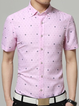 Polka Dots Printing Men's Long Sleeve Shirt