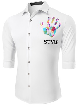 Vogue Chest Print Half Sleeve Men's Shirt