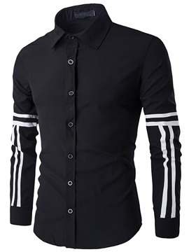 Stripe Single-Breasted Men's Casual Shirt