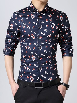 Slim Fit Floral Printed Men's Casual Shirt