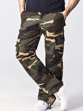 Camouflage Straight Men's Loose Fit Casual Pants