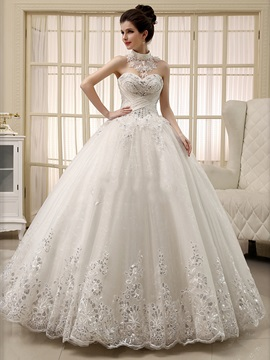 Sweetheart Ball Gown Lace Appliques Beaded Wedding Dress & Hot Sale Wedding Apparel online